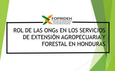 Rol de las ONG's en los servicios de Extensión Agropecuaria y Forestal en Honduras