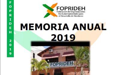 Memoria Anual FOPRIDEH 2019